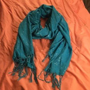 Accessories - Sparkly blue scarf